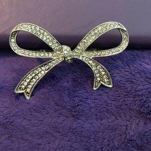 Torrid rhinestones two finger ring Bow design 11